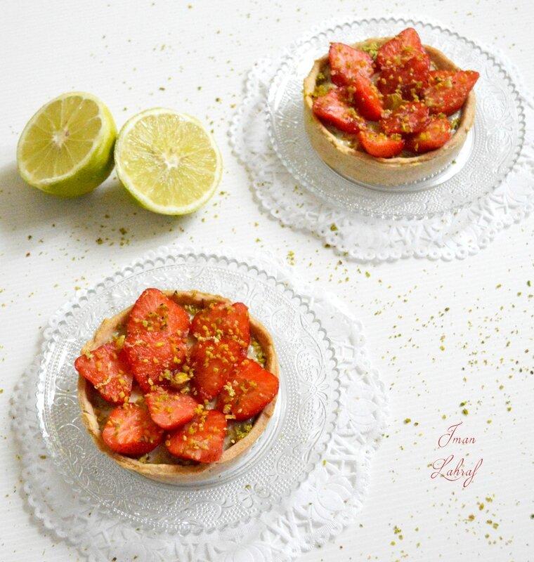 Tartelettes pistache, bergamote & fraises 2