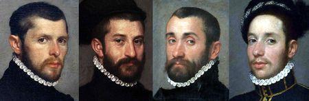 Portraits italiens vers 1565 à 1567