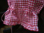 Panty en coton vichy rouge et blanc - taille élastique - lien de serrage au bas (5)