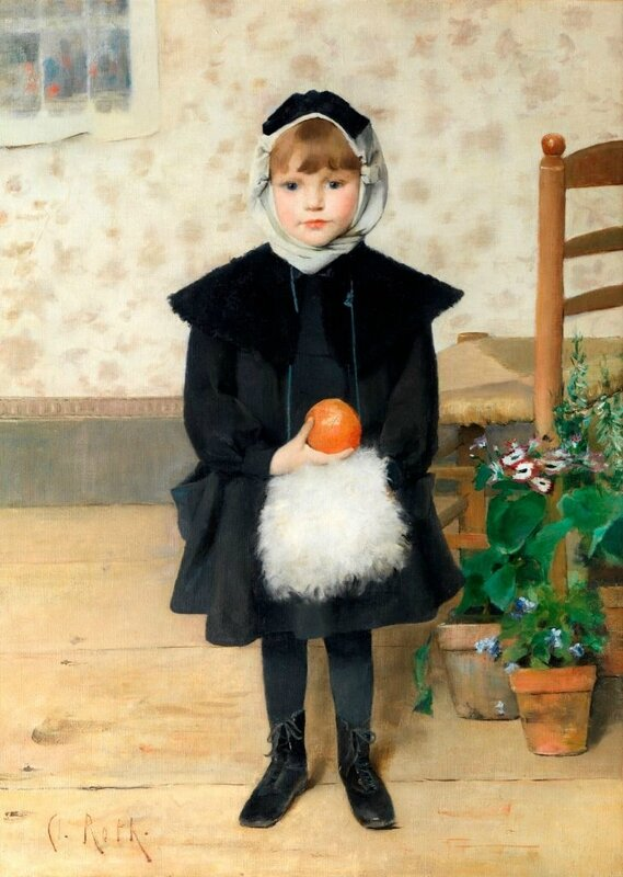 roth-clemence-petite-fille-tenant-une-orange-1889