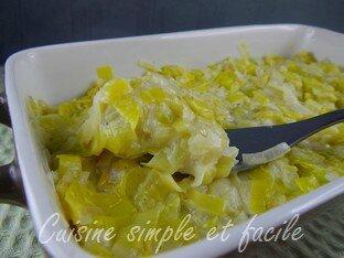 Fondue de poireaux cuisine simple et facile - Poireaux a repiquer vente ...