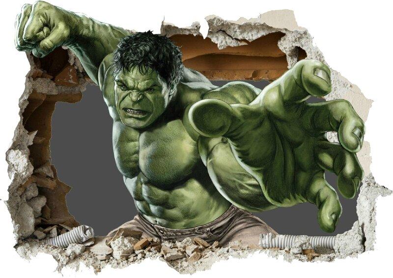Stickers Avengers Hulk 39x27cm ref 15045