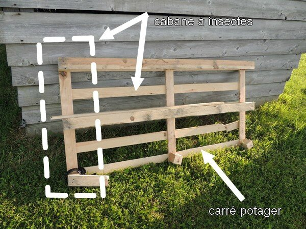 carr potager et cabane insectes en palette 9 et plus. Black Bedroom Furniture Sets. Home Design Ideas
