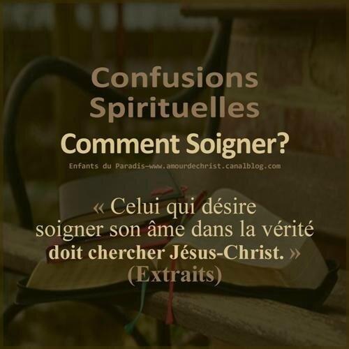 Soigner la confusion spirituelle