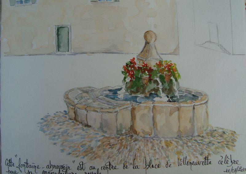 Villeneuvette : Fontaine abreuvoir - (carnet de voyage n° 3)