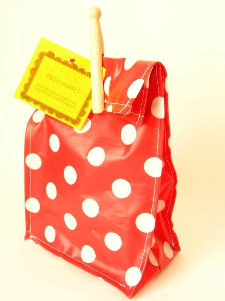 lunch bag rouge