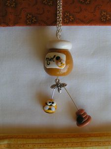 collier miel abeille