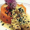 Curry de saumon au riz complet et sa purée de patate douce !