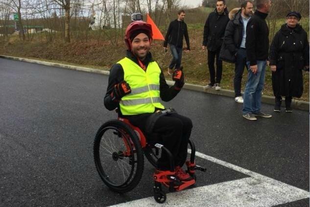 Édouard Detrez, fondateur de l'entreprise Le fauteuil roulant français (©Facebook - Édouard Detrez)