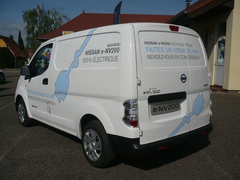 NISSAN e-NV200 fourgon 100% électrique 2015 Stutzheim Offenheim (2)