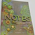 Carnet de notes en mixed media