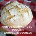 Pain de campagne sur poolish