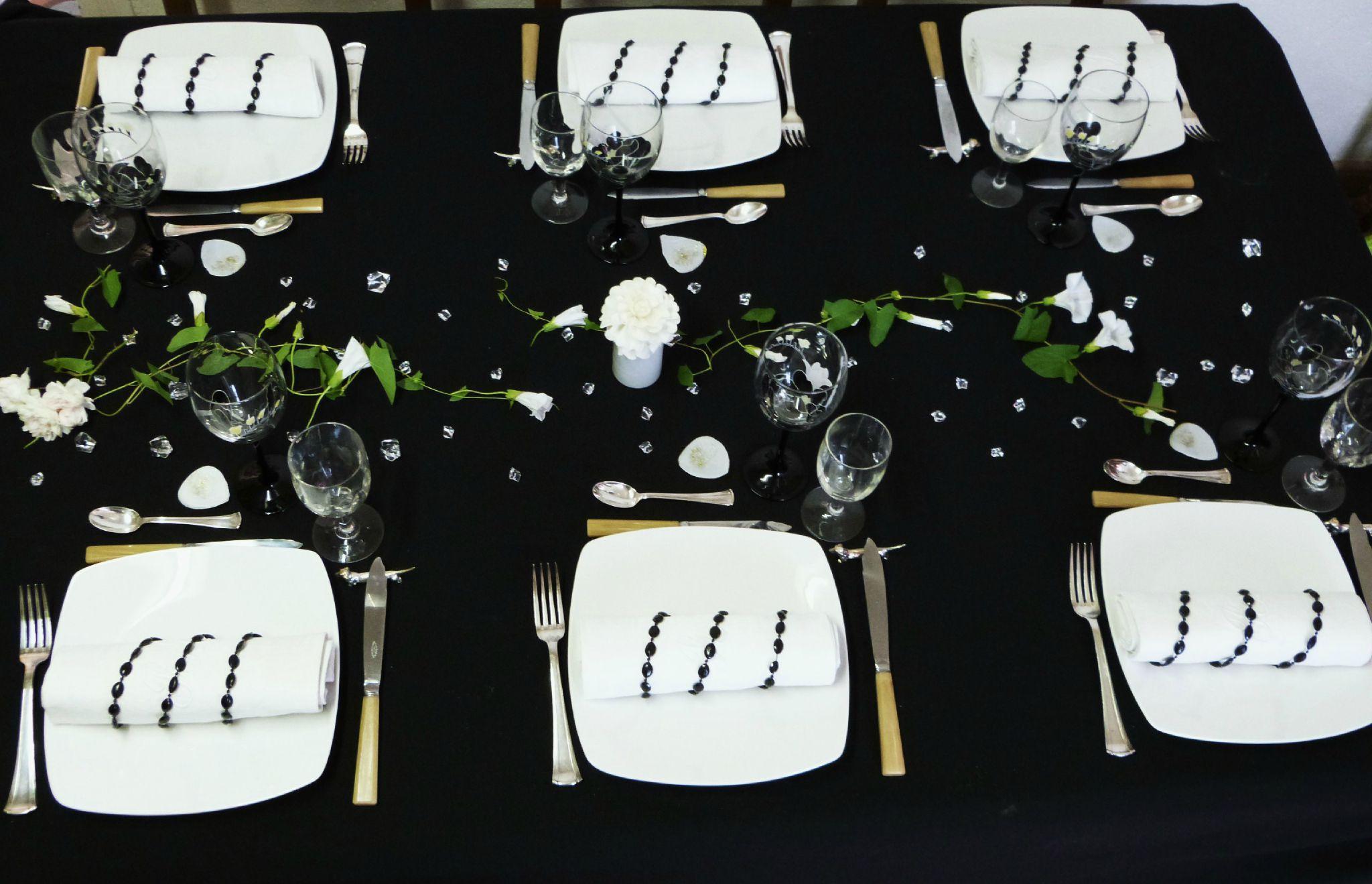 Célèbre Table en noir et blanc - tables et déco d'Estelle WU36