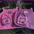 Tops au crochet pour chloé et léa - carrés 82 à 95 crochet facile