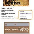 Le programme des 24h du myon 2012