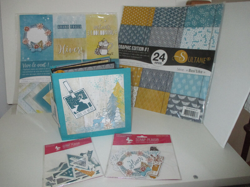 Nouvelle collection SCRAP PLAISIR papiers et embellissements assortis
