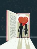 stock-illustration-20241546-man-and-woman-looking-at-a-love-story-book