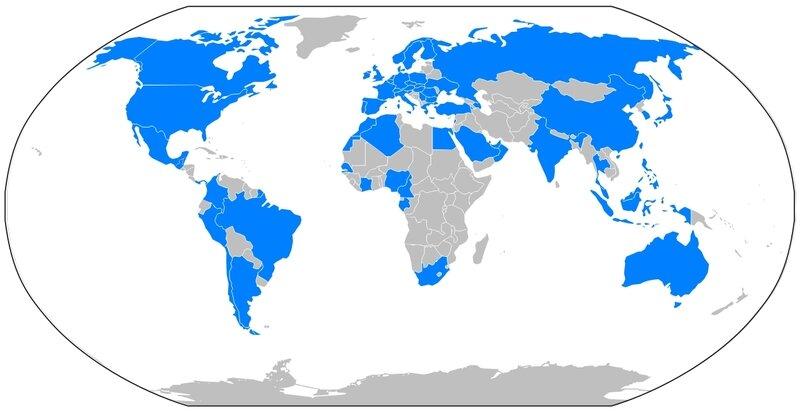 présence géographique d'Axa dans le monde