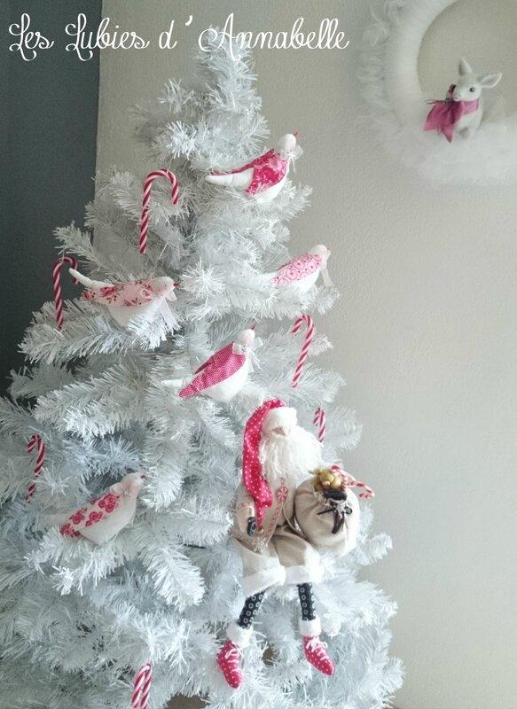 Oiseaux Tilda de Noël à poser