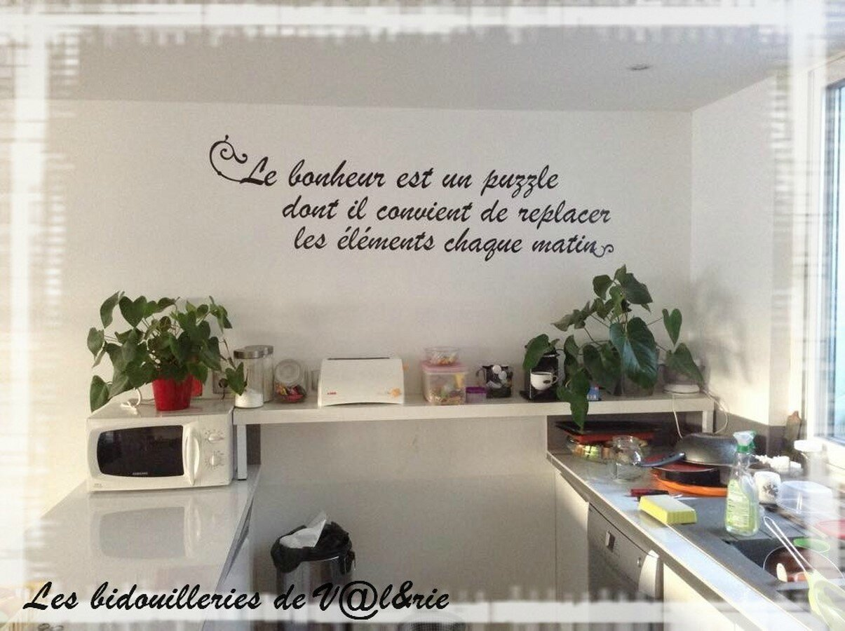 phrase cuisine copier photo de stickers cr aval personnalisations. Black Bedroom Furniture Sets. Home Design Ideas