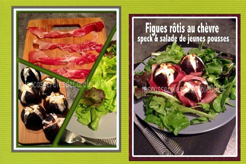 figues rôties au chèvre speck & salade (scrap)