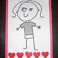 Petite carte pour la fête des mères