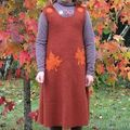 Robe chasuble d'automne