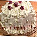 Vacherin vanille, framboise & mascarpone