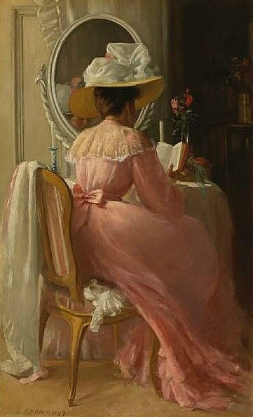 A Lady in Pink, 1899 Patrick William Adam (1854-1929)