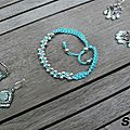 BO et bracelet turquoise