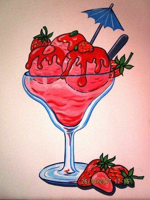 coupe de glace à la fraise 012