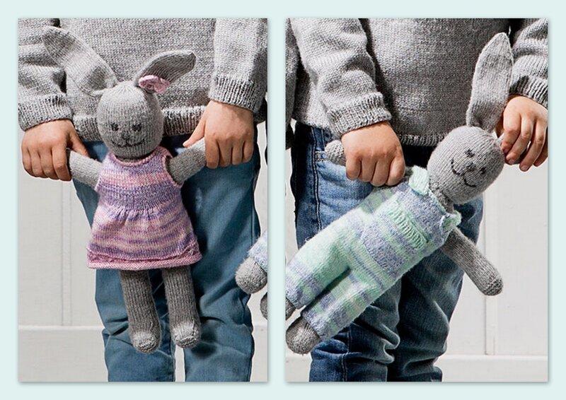 Et si on tricotait un doudou lapin?