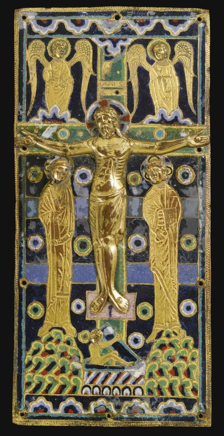 French, Limoges, 1210-1220, Book cover with the Crucifixion
