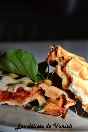 gaufre fourrée- pizza gaufre- pizza revisitée- thermomix