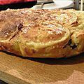 Clafoutis de courgette et chèvre au romarin - sans gluten