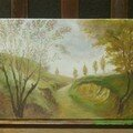 paysage dernire peinture au pinceau
