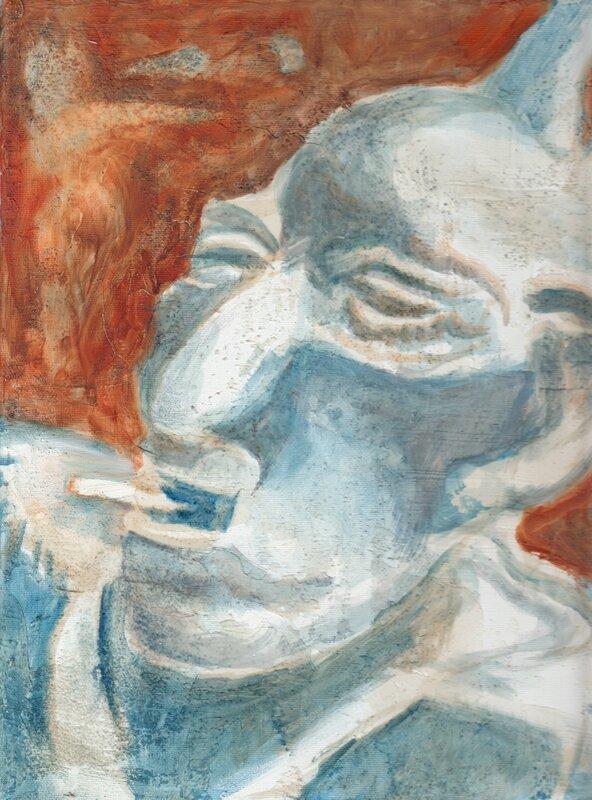 L'homme à la tresse bleu fumant un doux rêve