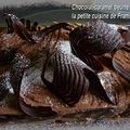 Gateau–mousse au chocolat, praliné et caramel