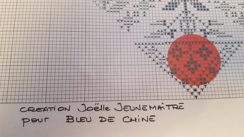 BLEU DE CHINE COEUR ROUGE ET BLEU REF 1030