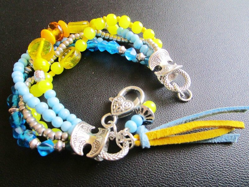 bracelet bobo jone et bleu 4