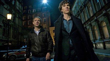 Martin-Freeman-and-Benedict-Cumberbatch-in-Sherlock-TV-Series