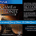 Soirée ciné interactif, game of thrones : a telltale games series