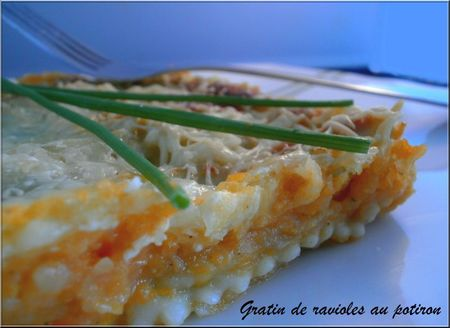 Gratin raviole potiron