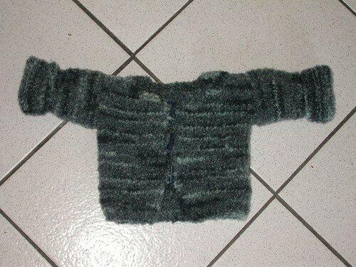 Gilet bébé bleu