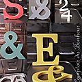 Lettres et chiffres déco en bois