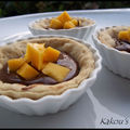 Tartelette mangue & nutella