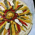 Discussions entre légumes : la tarte-soleil !