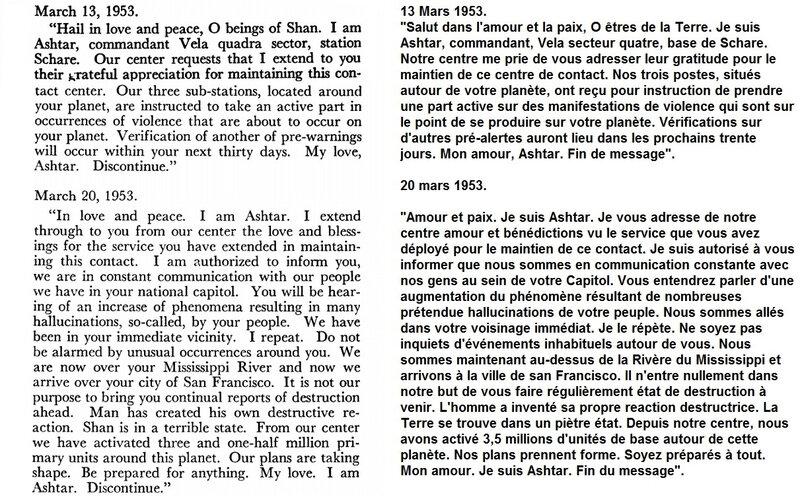 Message 13 mars au 20 mars 1953