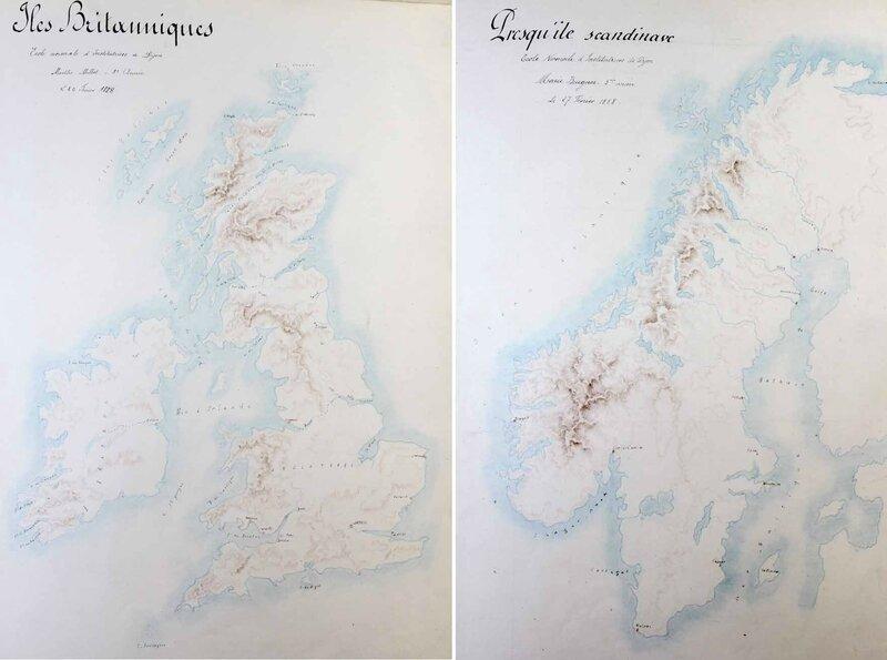 Atlas élèves-maîtresses UK Scandinavie