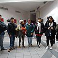 Des élèves colombiens au lycée